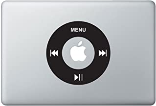 Retro iPod Controls MacBook Decal, Fits 11