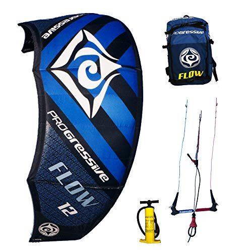 Progressive Flow Kiteboarding Kite Complete Kitesurfing Package (9m Blue)