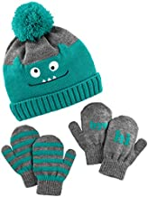 Simple Joys by Carter's Boys' Hat and Mitten Set, green monster, 12-24 Months