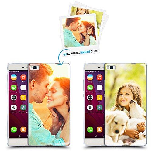 Anukku Custodia Cover Air Gel Ultra Sottile Personalizzata con la Tua Foto, Immagine o Scritta per Huawei P8 Lite 2017 Stampa di qualità Fotografica con Mimaki