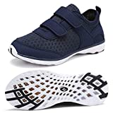 CIOR Toddler Water Shoes Amphibious Swim Shoes Boy and Girl Aqua Shoes Kids Sport Sneakers Light Weight Walking Shoes,U118SSXT006-Navy-25