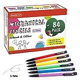 Mechanical Pencils, Shuttle Art 84 Pack Bulk Mechanical Pencils 0.7mm Medium Point, HB #2 Lead, Assorted Barrels, Office School Supplies