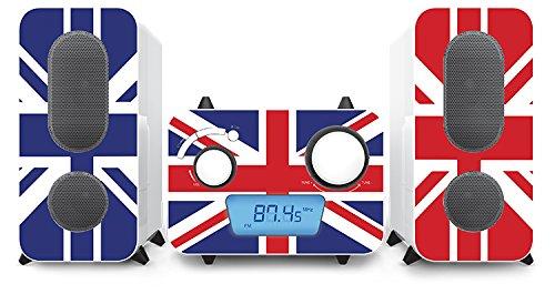 Stereo muziekinstallatie CD speler radio USB MP3 vlaggen ontwerpen Big Ben MCD 11 vlag
