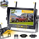 RV Backup Camera Wireless HD 1080P with 7 Inch DVR Monitor,RV Rear View Observation System Adapter for Furrion Pre-Wired RV,Trailer,Split Screen Support Add on License Plate Camera LeeKooLuu LK7