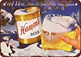 VEHFA 1956 Hamm's Beer and Winter Vintage Look Reproduction Metal Tin Sign 12X18 Inches