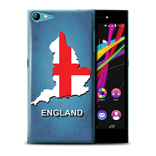 Hülle Für Wiko Highway Star 4G Flagge Land England/Englisch Design Transparent Ultra Dünn Klar Hart Schutz Handyhülle Hülle