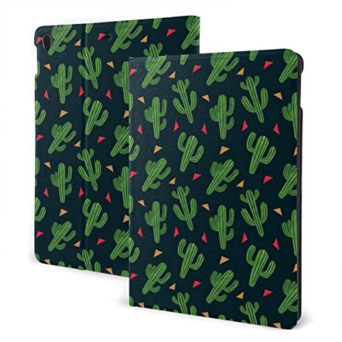 Case for iPad Cute Cactus PU Leather Business Folio Shell Cover with Stand Pocket and Auto Wake/Sleep for iPad Air 10.5'