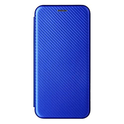 SPAK Compatible Nokia C10/Nokia C20 Funda,Carcasa con Tapa Patrón Fibra Carbono Ultra Delgada Compatible Nokia C10/Nokia C20 (Azul)