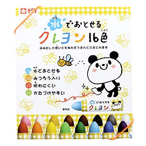 Sakura Color Crayons Washable 16 Water Color WYL16 (Japan Import)