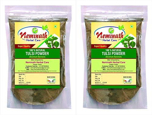 Tulsi Leaves (Ocimum Sanctum) Powder(Pack Of 2) Each 100 gm (3.52 OZ)