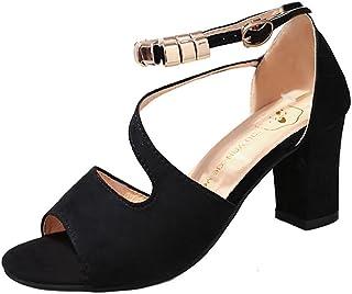 3300227a BBestseller sandalias de mujer tacones altos,Sandalias femeninas  ocasionales de verano Zapatos de tacón grueso