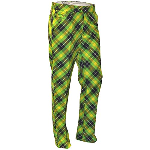 ROYAL & AWESOME HERREN-GOLFHOSE, Mehrfarbig (Plaid Electric), W44/L34