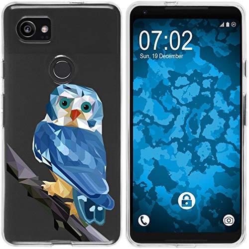 Preisvergleich Produktbild PhoneNatic Case kompatibel mit Google Pixel 2 XL Silikon-Hülle Vektor Tiere Eule M1