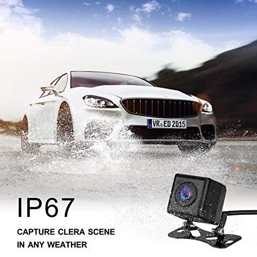 Caméra de recul sans Fil, Uzone WiFi Caméra Recul Voiture magnétique Inversant la Caméra Night Vision étanche IP68 Caméra de rétroviseur pour remorque Camping Car Vans Smart APP pour iPhone Android