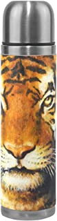 A Seed Vintage Tiger Oil Painting Insulated Water Bottle Vacuum Flask Thermos Double Wall Stainless Steel 17 OZ for Travel Sports