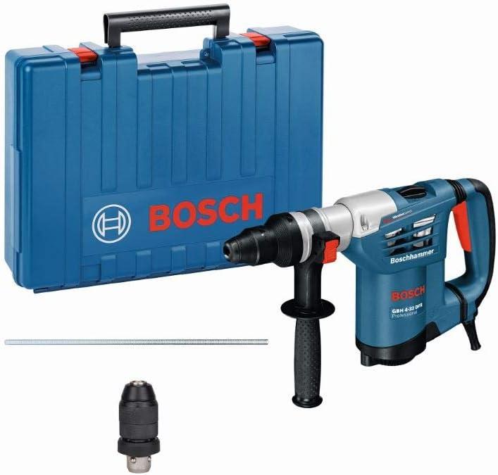 Bosch Professional GBH 4-32 DFR - Martillo perforador (4,2 J, Ø máx. hormigón 32 mm, portabrocas SDS plus + hexagonal, en maletín)
