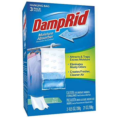 Check Out This DAMPRID 3-Pack (14oz. Each) | Absorb Unwanted Moisture Eliminating Musty Odors | Conv...