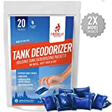 Firebelly Outfitters RV Septic Tank Treatment, Holding Tank Deodorizer, Sewer Solution - 20 Packets, Mulberry Scent - Marine, Camper, Portable Toilet Odor Eliminator, Formaldehyde Free, USA