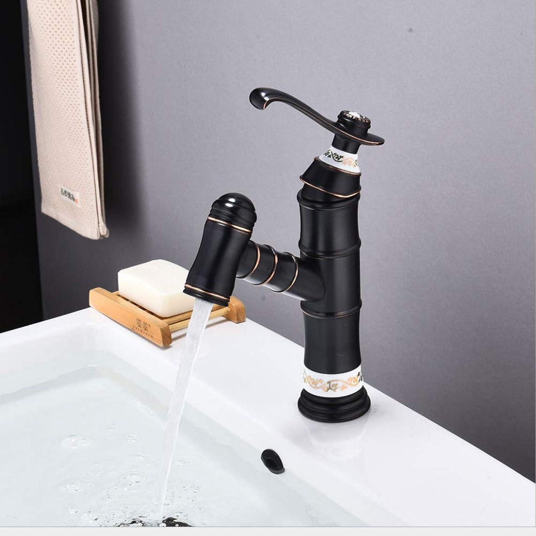 Faucet European Black Bronze Basin Faucet hot and Cold wash Basin Pull Faucet Bathroom wash Basin Universal Faucet