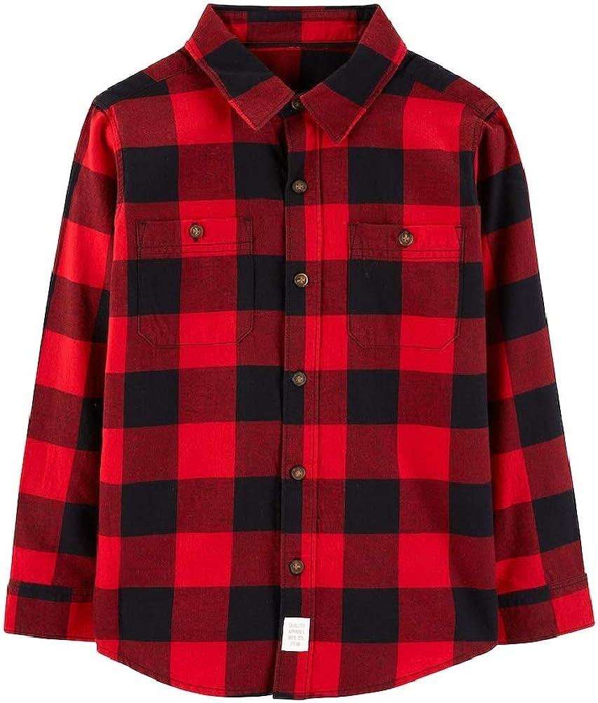 Carter's Little Boys Flannel Buffalo Check Button Down Shirt