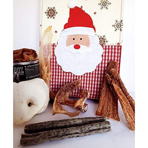 SNACK Natural Regalo Navidad para Perro Christmas Papa Noel Reyes Magos 100% Natural sin colorantes ni conservantes CHUCHE Premio | ANIMALUJOS