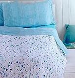 Zucchi. Gesteppte Tagesdecke für Doppelbett, Double-Face Isabelle, Farbe 2 Hellblau, 260 x 260 cm, Satin-Stoff, 100 prozent Baumwolle, 85 Fäden