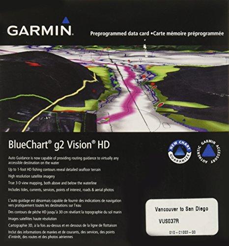 Garmin BlueChart g2 Vision Vancouver/San Diego salée Carte microSD Card