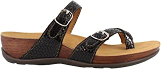 SAS Womens Shelly Leather Open Toe Casual Slide Sandals