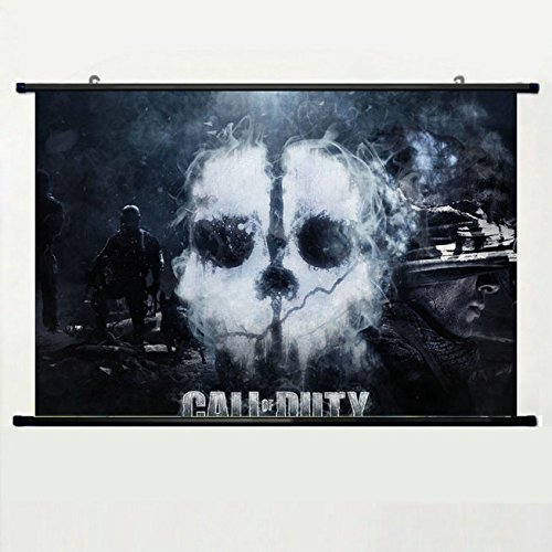 Wall Posters Wall Scroll Poster with Call of Duty Ghosts Cod Ghost Infinity Ward Activision The Ghosts are Real Home Decor Fabric Painting 23.6 X 15.7 Inch