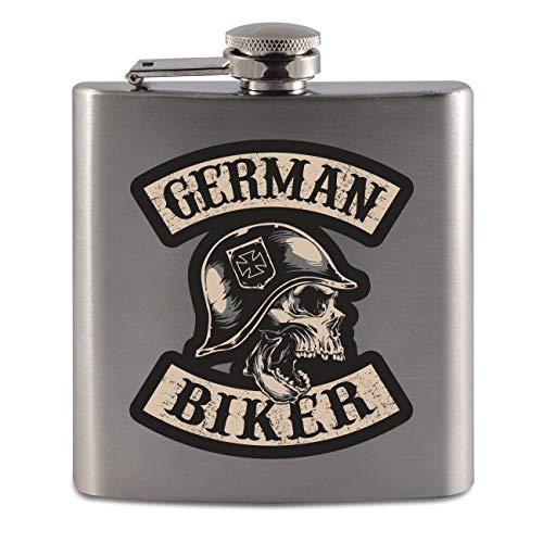Flachmann aus Edelstahl German Biker