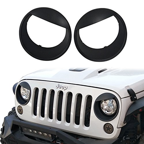 HIGH Flying Car Accessories ABS Chrome Rear Taillight Lamp Cover Trim for Jeep Wrangler JL 2018 2019 NOT Fit Unlimited, Sport S version
