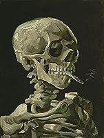 BOIPEEI スカルジグソーパズル1000ピース大人ヴァンゴッホ木製パズル高難易度ティーンエイジャーDiy早期学習ギフト-燃焼タバコパズルジグソー1000ピース