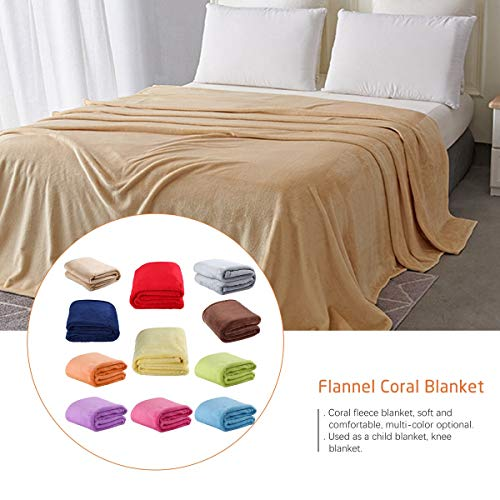 Greatangle Franela de Color sólido Manta de Coral Manta de Terciopelo de Color Liso Manta de Rodilla Naranja