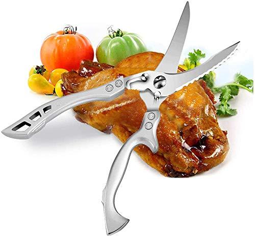 Tijeras de cocina afilada Ejecución multipropósito Sistiss de acero inoxidable, pollo, aves de corral, pescado, carne, verduras, hierbas, barbacoa, huesos