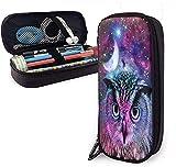 Cool Owl Dreamcatcher Galaxy PU cuero estuche impermeable maquillaje bolsa