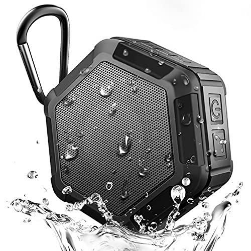 Altavoz de ducha Bluetooth, Altavoz inalámbrico portátil para exteriores, Mayor volumen y graves mejorados, IP65 a prueba de agua, Altavoz para deportes al aire libre, Senderismo, Camping