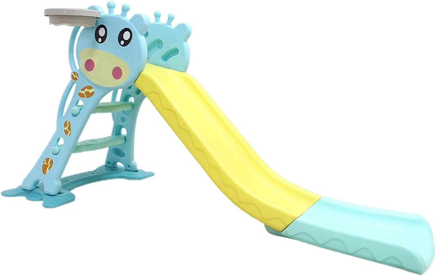 Huokan Foldable Childrens Slide Climbing Stairs with Basketball