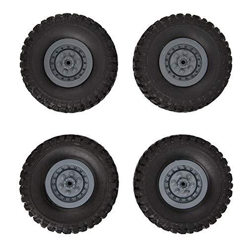 Dilwe RC Autoreifen, 4 STÜCKE 1/16 Gummi Kettenräder Ersatzteile Fernbedienung LKW Räder für 1/16 WPL B14 B16 B24 RC Autos