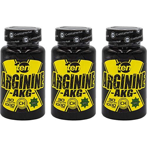 Tien voeding, Arginine AKG Aminozuur, Bloeddruk verminderen, Werkt als een antioxidant, Verminder de vetmassa, Verhoog de immunereactie, Verminder angst x3