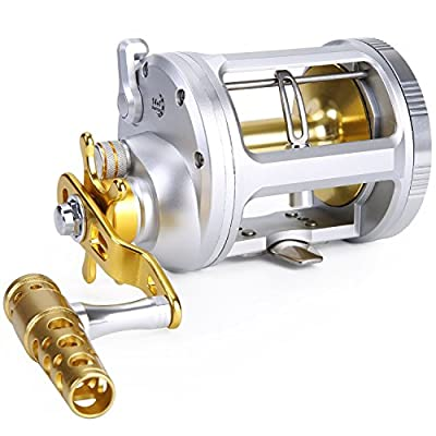 One Bass Fishing Reels Level Wind Trolling Reel Conventional Jigging Reel for Saltwater Big Game Fishing