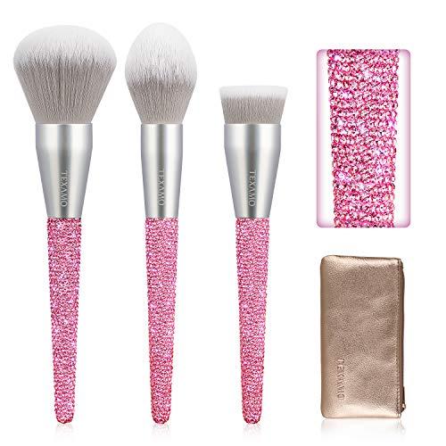 TEXAMO Make Up Brush Set of 3, Hot Pink Now $15.99