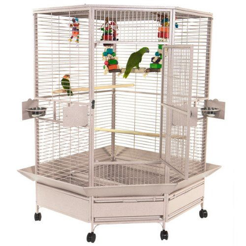 A&E CAGE CO Extra Large Corner Cage, Black