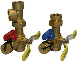 Rheem RTG20220AB Webstone Tankless Water Heater Service Valve Kit, Clean Brass