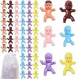 URATOT 204 Pieces Mini Plastic Mini Toys 6 Colors Plastic Toys for Baby Shower Party Favor Supplies