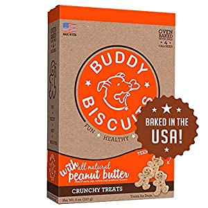 Buddy Biscuits Dog Treats, Oven Baked in USA, Teeny Size for Small Dogs or Large Dog Training, Peanut Butter 8 oz