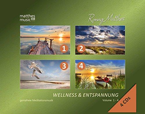 Wellness & Entspannung (Vol. 1-4 auf 4 CDs) - Gemafreie christliche Entspannungsmusik (Einschlafhilfe, Meditation & Tiefenentspannung)