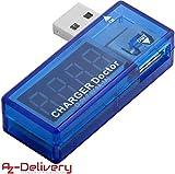 AZDelivery Charger Doctor USB/Misuratore Consumo Energetico/Misuratore di tensione incluso un Ebook!