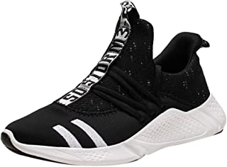 God's pens Men's Sneakers Teens Casual Lightweight Breathable Mesh Sports Running Shoes Low-Top Soft Bottom Lazy Shoes