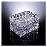 Recipientes para ceniza Moda creativa cristalina cenicero multifunción con cubierta dual uso cenicero sala de estar mesa de café cafetera bandeja de ceniza soporte de ceniza ( Color : Clear )