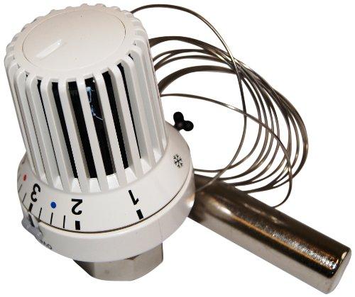 Oventrop 1011565 Thermostatkopf Uni XH mit Fernfühler und nullstellung 2 m, weiß